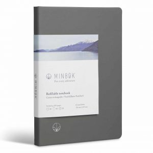 Minbøk Refillable Notebook Large Grey Front Cover