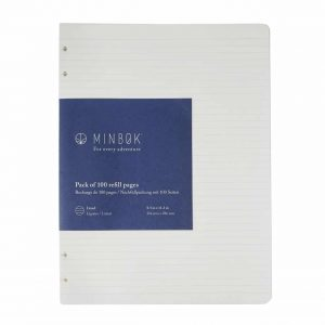Minbøk Refillable Notebook Xl Refill Lined Layout